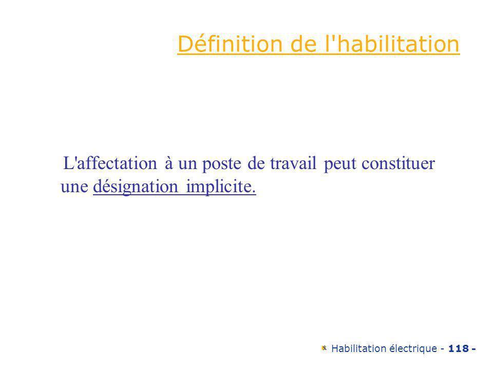 Définition de l habilitation