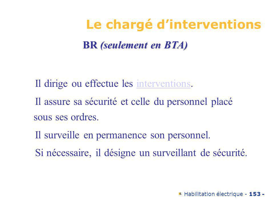 Le chargé d'interventions