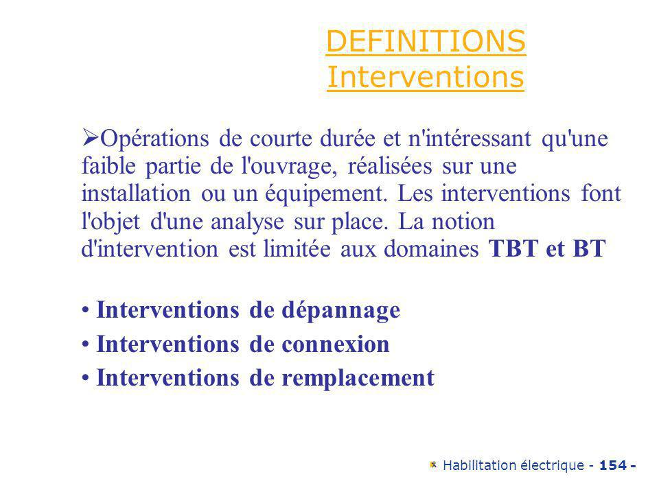 DEFINITIONS Interventions