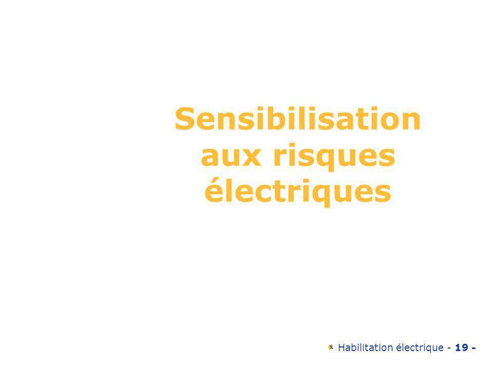 Sensibilisation aux risques électriques