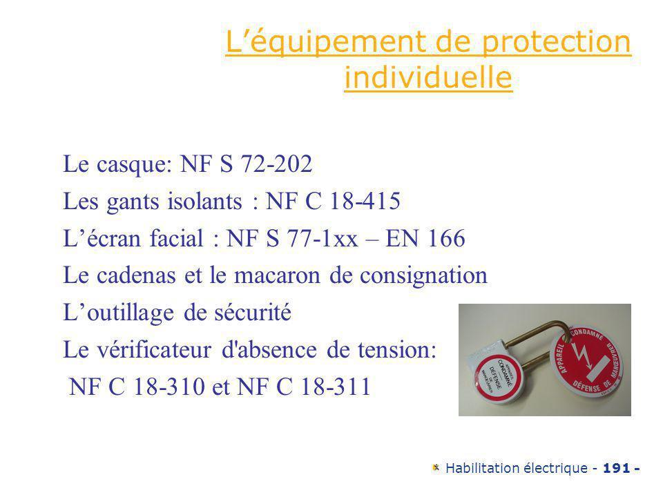 L'équipement de protection individuelle