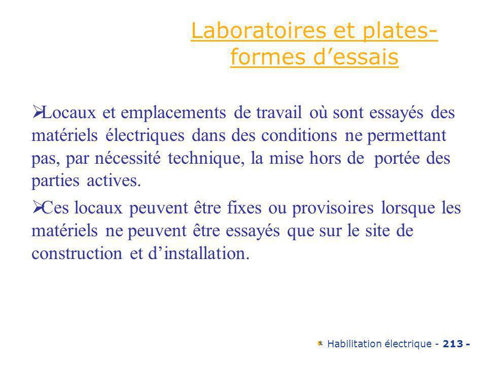 Laboratoires et plates-formes d'essais