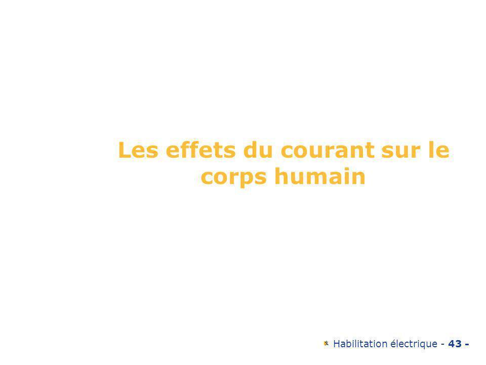 Les effets du courant sur le corps humain
