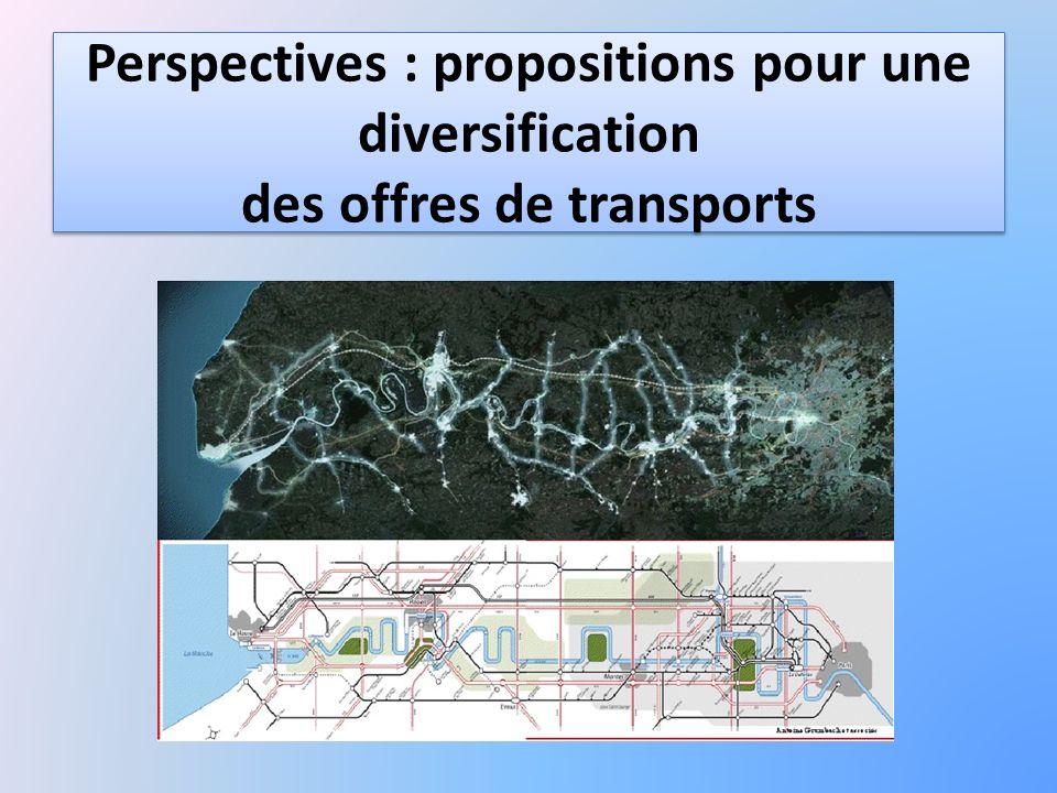 Perspectives : propositions pour une diversification des offres de transports