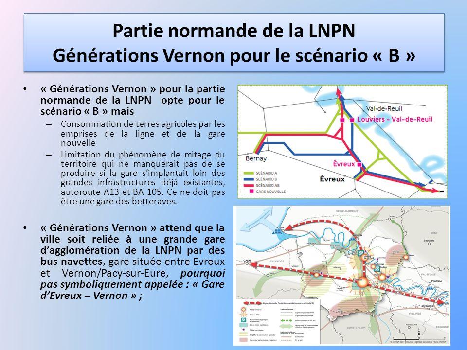 Partie normande de la LNPN Générations Vernon pour le scénario « B »