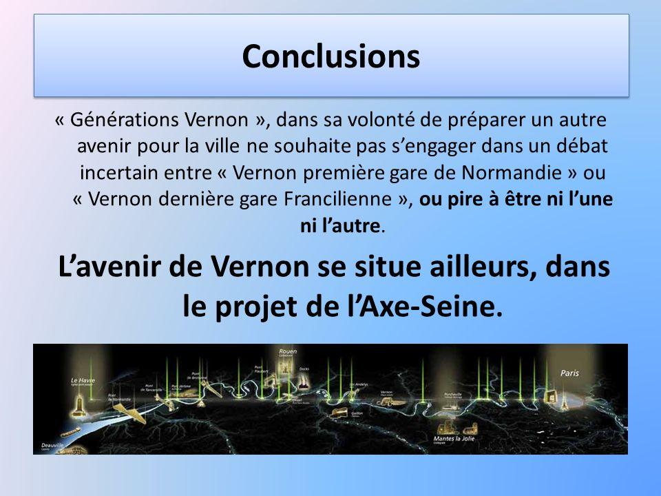 L'avenir de Vernon se situe ailleurs, dans le projet de l'Axe-Seine.