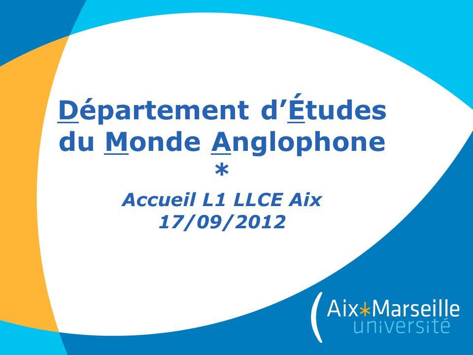 Département d'Études du Monde Anglophone