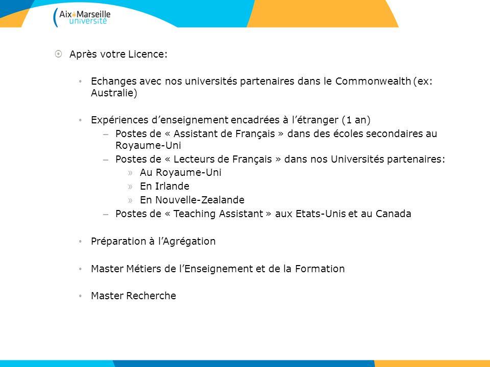 Après votre Licence: Echanges avec nos universités partenaires dans le Commonwealth (ex: Australie)