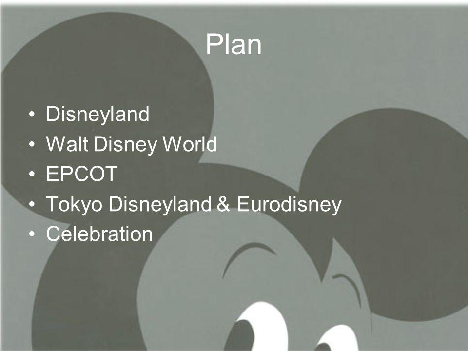 Plan Disneyland Walt Disney World EPCOT Tokyo Disneyland & Eurodisney