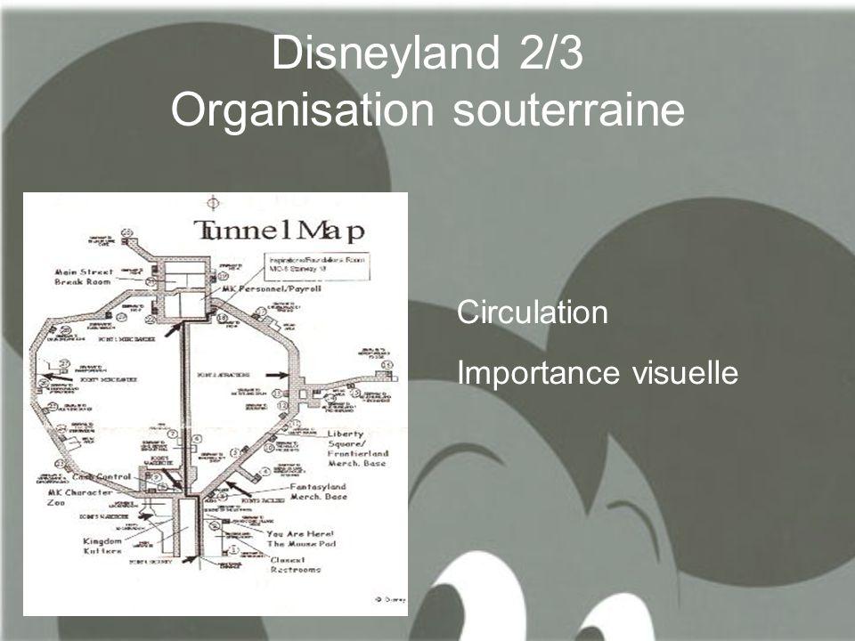 Disneyland 2/3 Organisation souterraine