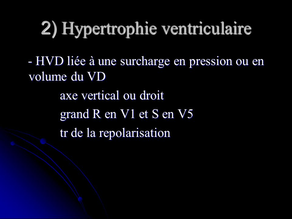 2) Hypertrophie ventriculaire