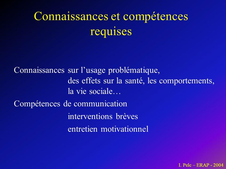 Connaissances et compétences requises