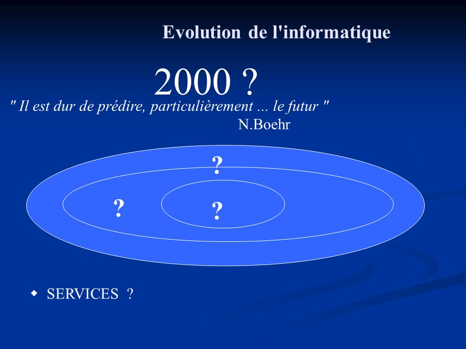 Evolution de l informatique