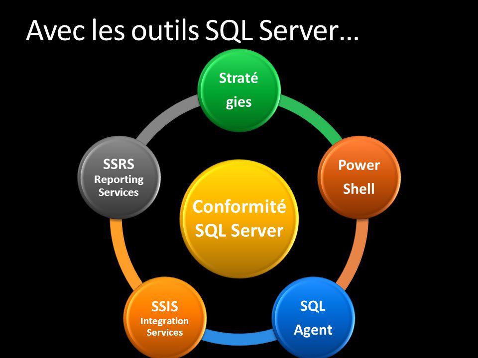 Avec les outils SQL Server…