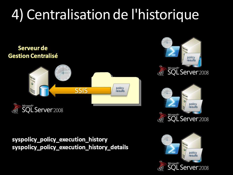 4) Centralisation de l historique