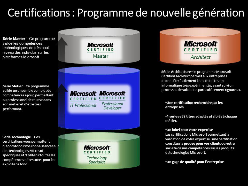 Certifications : Programme de nouvelle génération