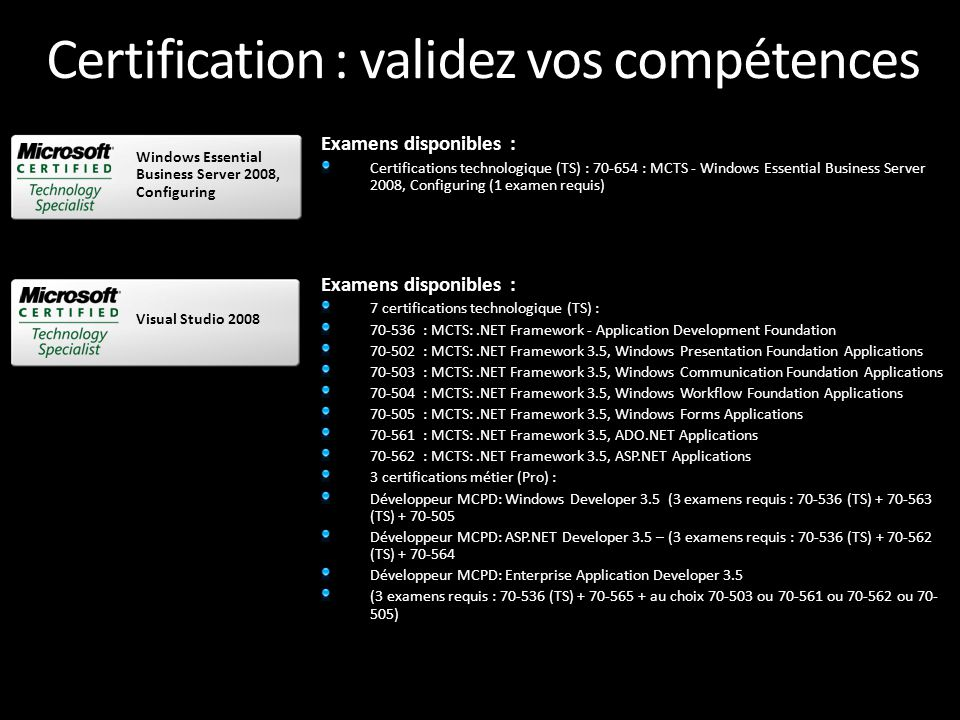 Certification : validez vos compétences