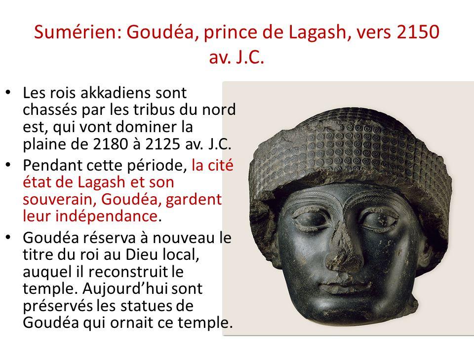 Sumérien: Goudéa, prince de Lagash, vers 2150 av. J.C.