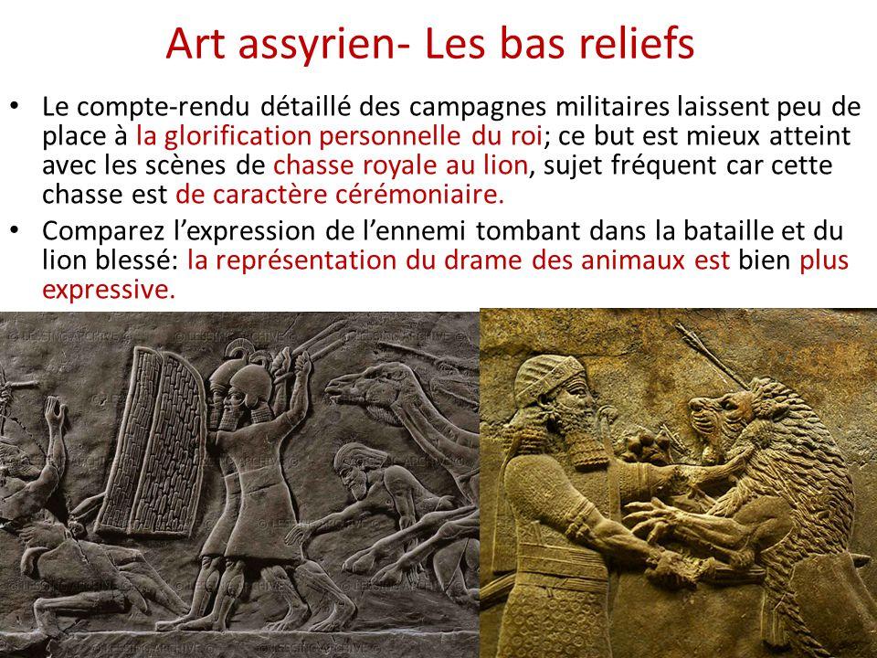 Art assyrien- Les bas reliefs