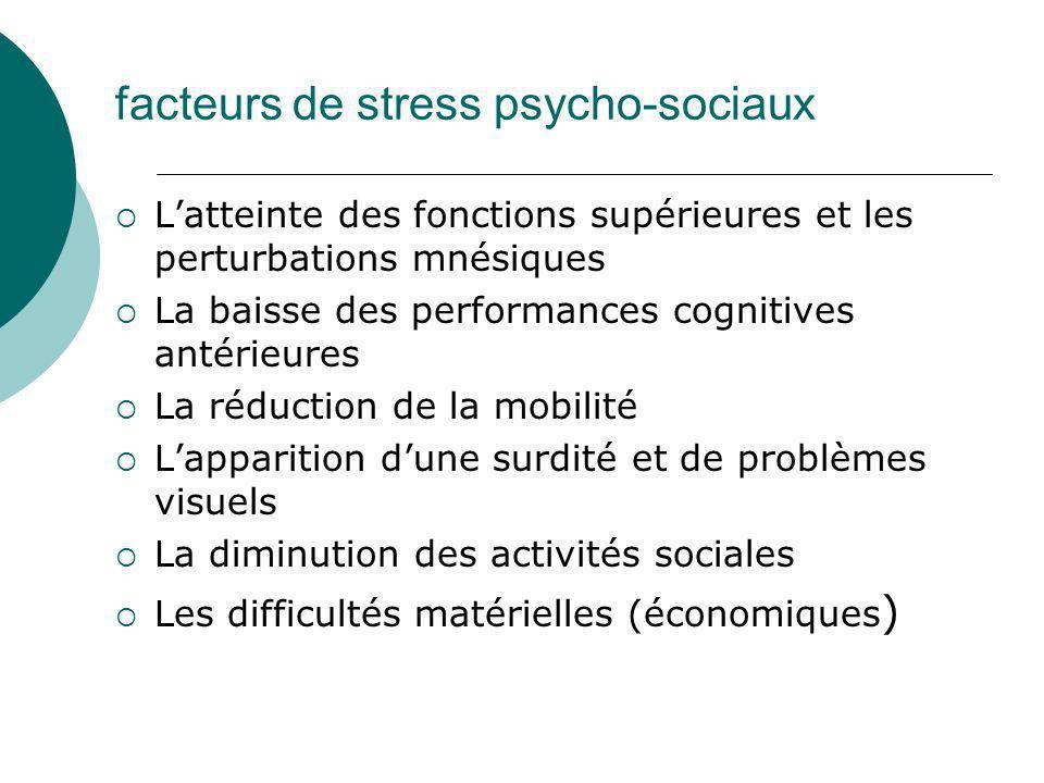 facteurs de stress psycho-sociaux