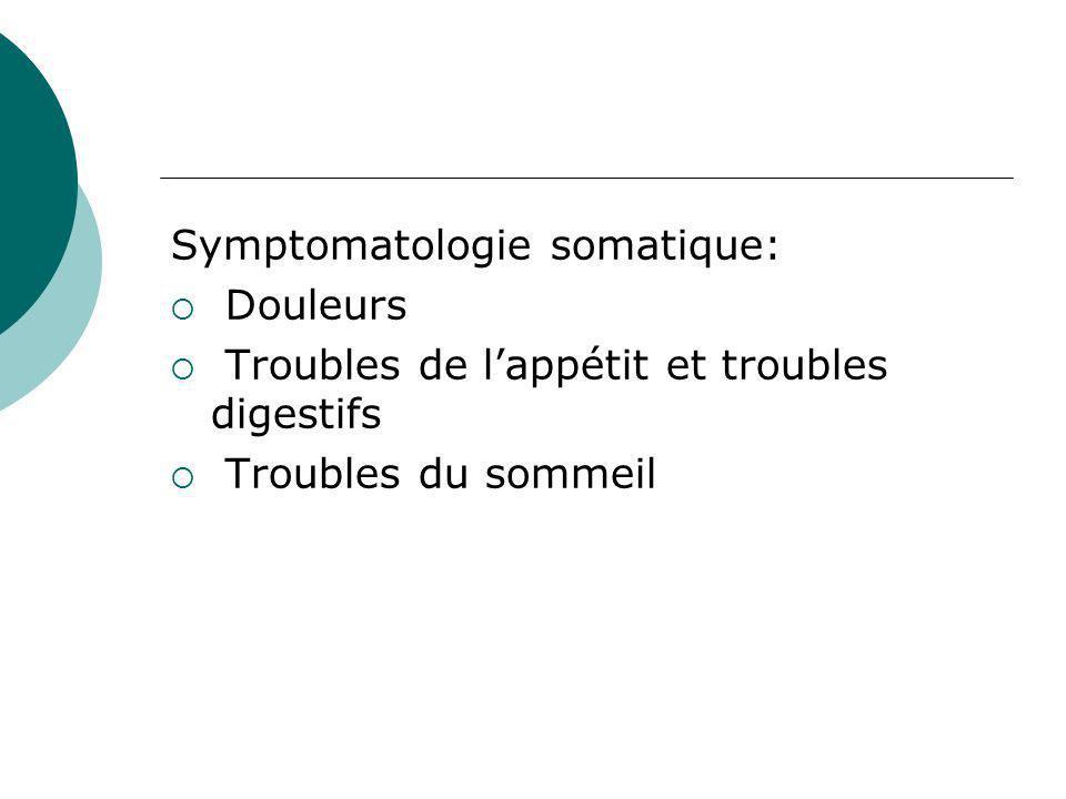 Symptomatologie somatique: