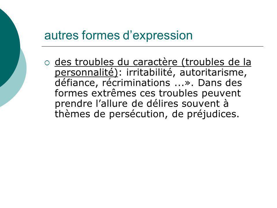 autres formes d'expression