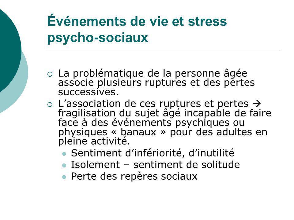 Événements de vie et stress psycho-sociaux