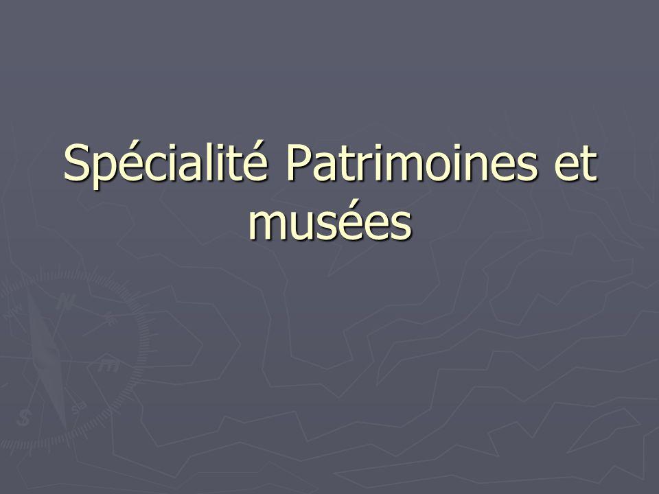 Spécialité Patrimoines et musées