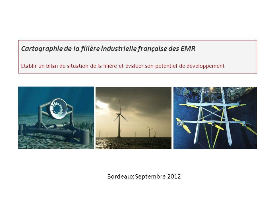 Cartographie de la filière industrielle française des EMR Etablir un bilan de situation de la filière et évaluer son potentiel de développement