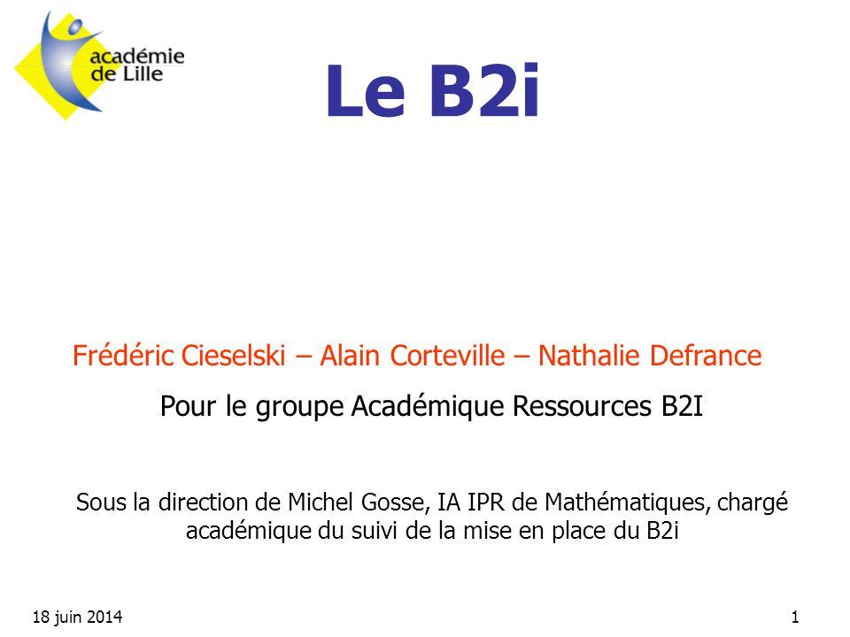 Pour le groupe Académique Ressources B2I