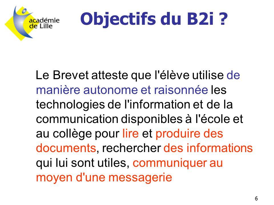 Objectifs du B2i