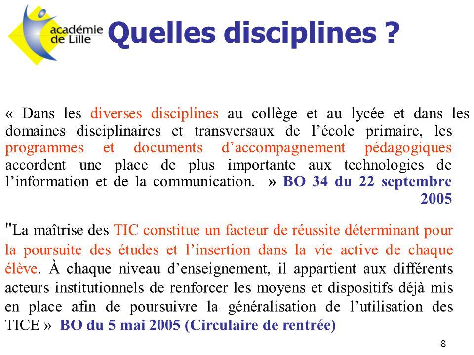 Quelles disciplines