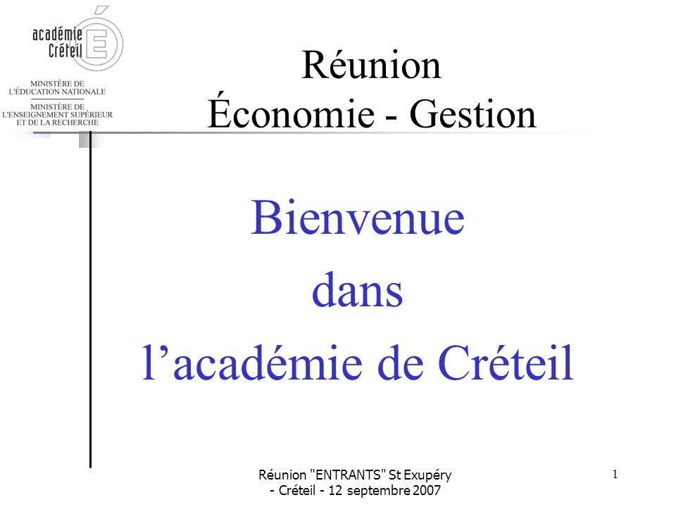 Réunion Économie - Gestion