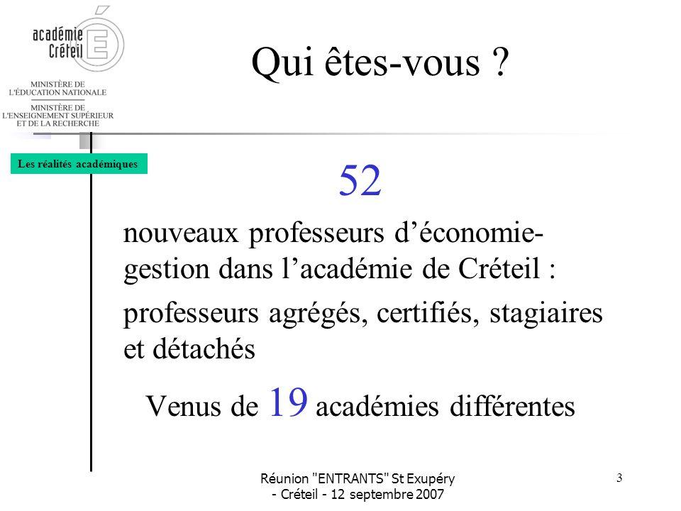 Venus de 19 académies différentes