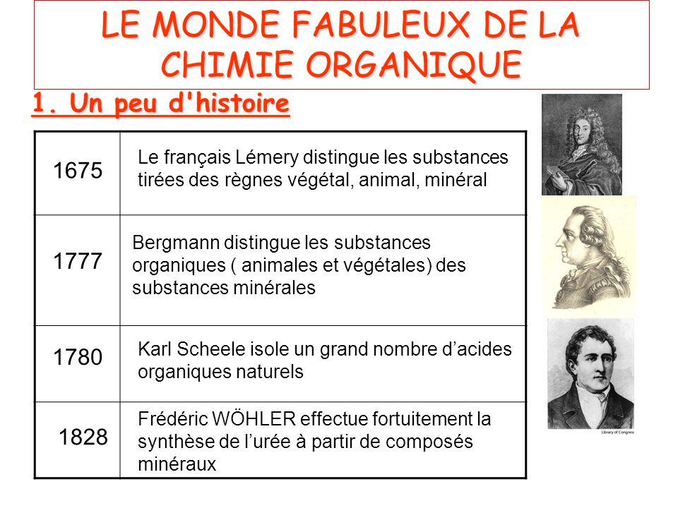 LE MONDE FABULEUX DE LA CHIMIE ORGANIQUE
