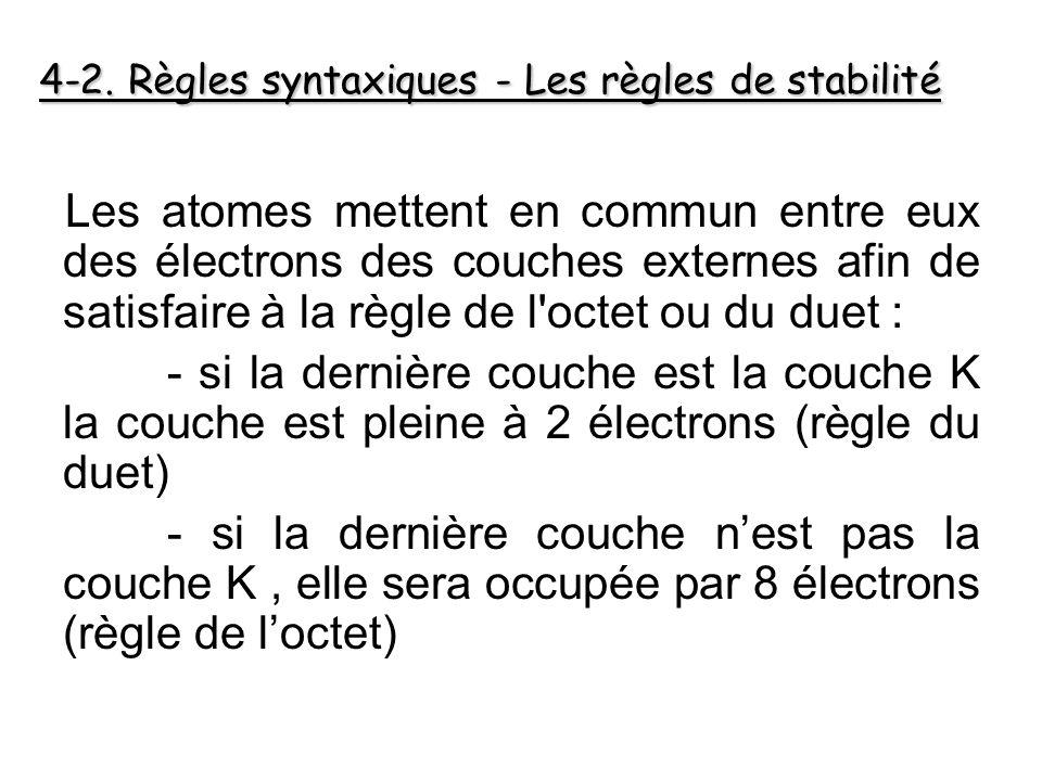 4-2. Règles syntaxiques - Les règles de stabilité