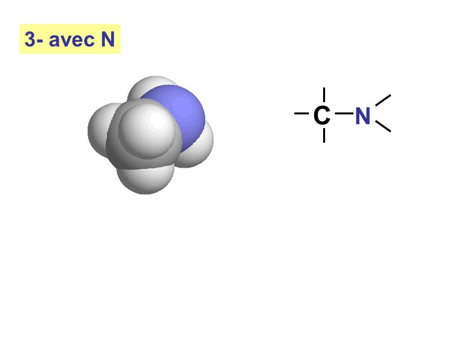 3- avec N C N