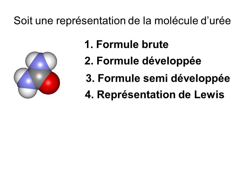 Soit une représentation de la molécule d'urée