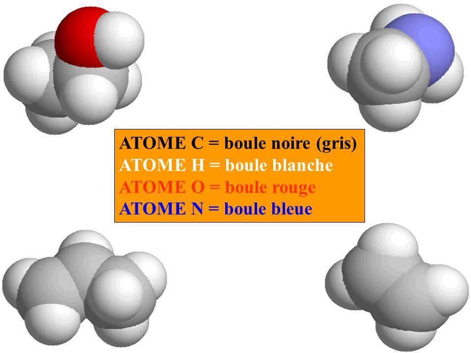 ATOME C = boule noire (gris)