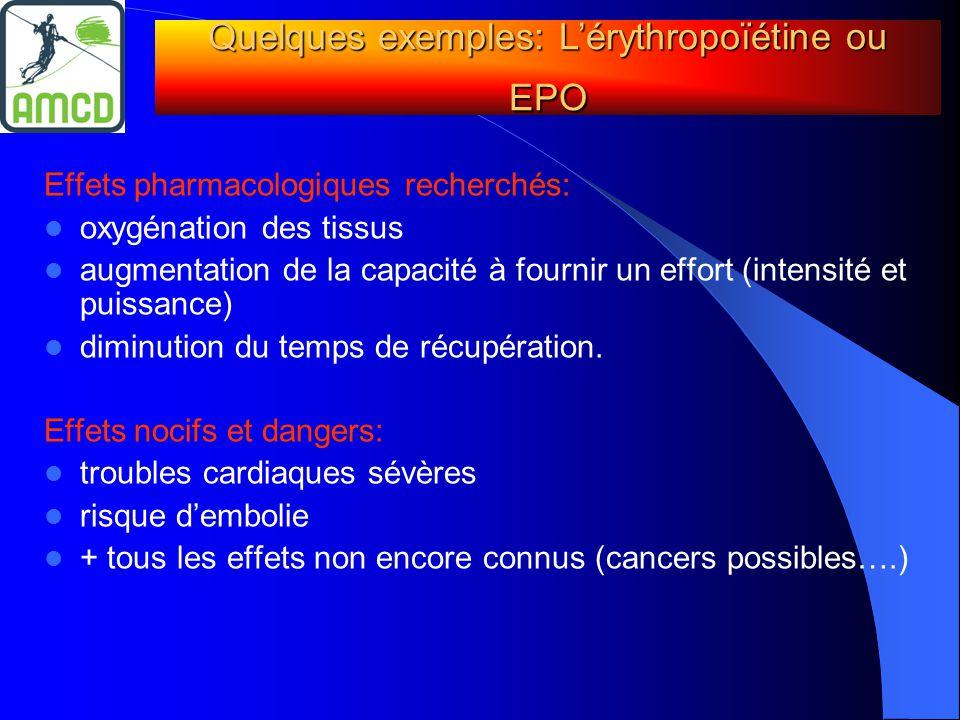 Quelques exemples: L'érythropoïétine ou EPO