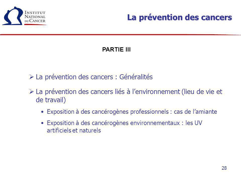 La prévention des cancers