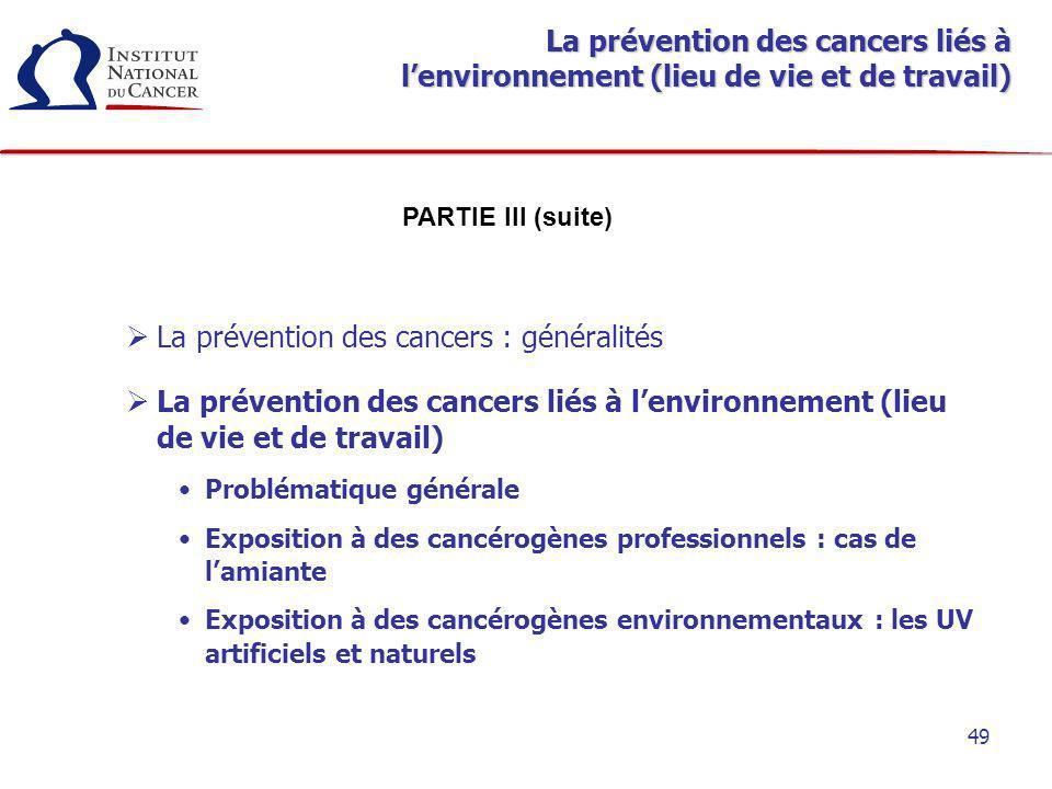 La prévention des cancers : généralités
