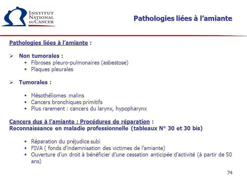 Pathologies liées à l'amiante