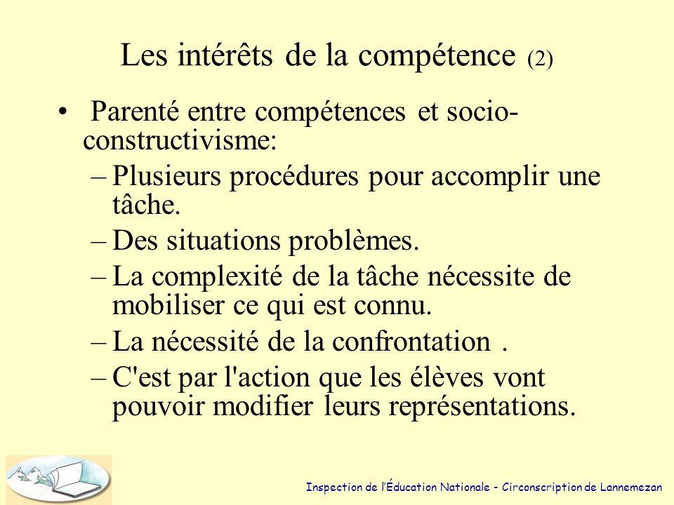 Les intérêts de la compétence (2)