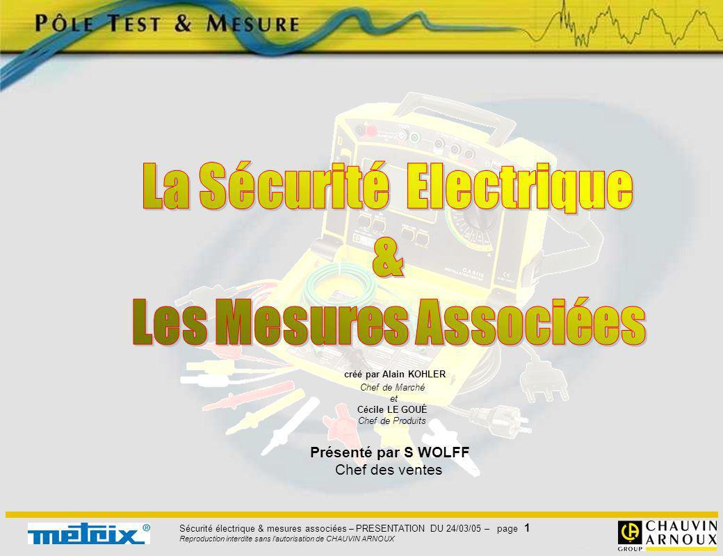 La Sécurité Electrique