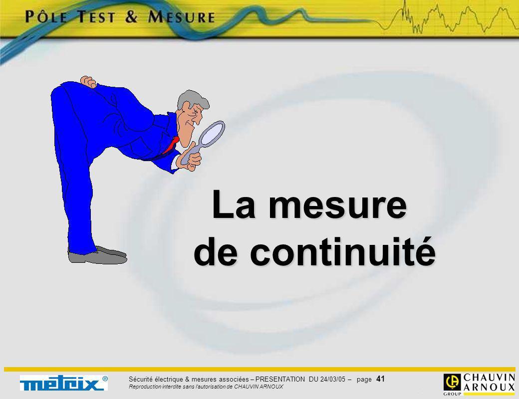 La mesure de continuité