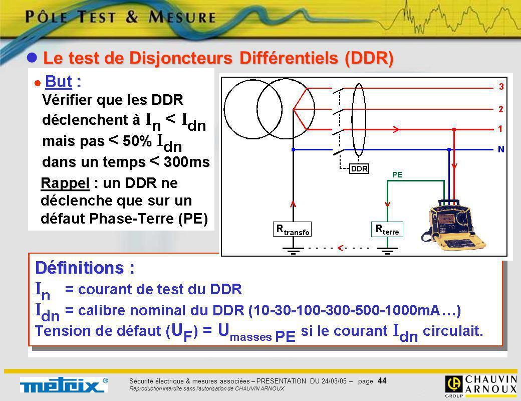 Le test de Disjoncteurs Différentiels (DDR)