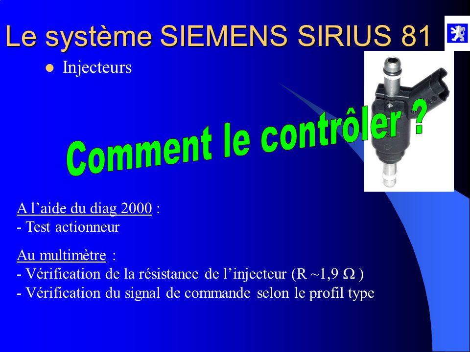 Comment le contrôler Injecteurs A l'aide du diag 2000 :