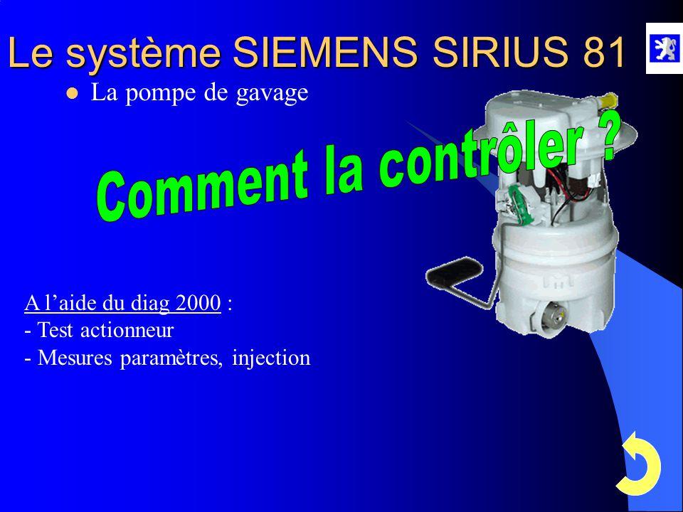 Comment la contrôler La pompe de gavage A l'aide du diag 2000 :