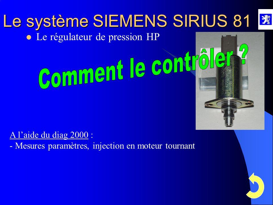 Comment le contrôler Le régulateur de pression HP